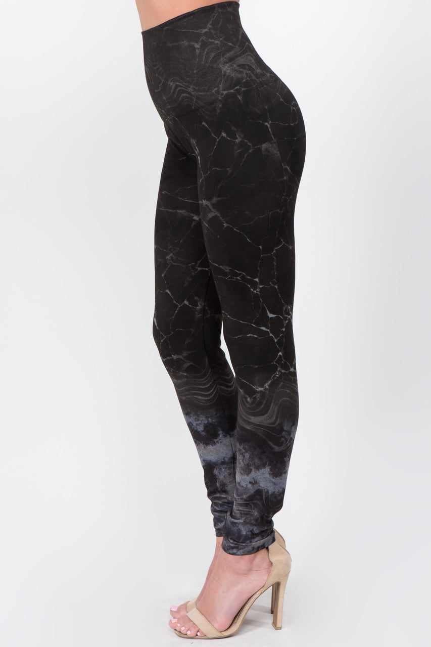 B4292AR High Waist Full Length Legging Monochromatic Gemstone