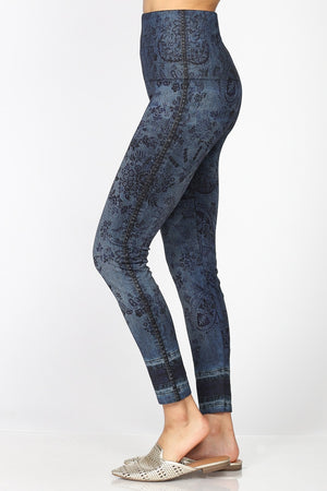 B4292BM High Waist Full Length Legging