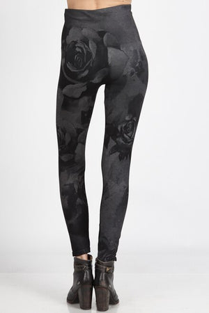 B4292Q High Waist Full Length Legging Floral Dream