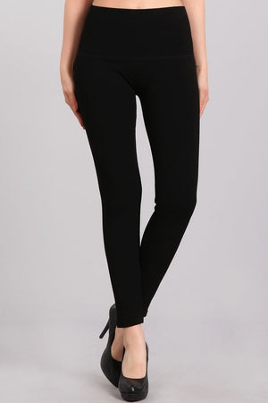 B4298 Black French Terry Leggings by M. Rena