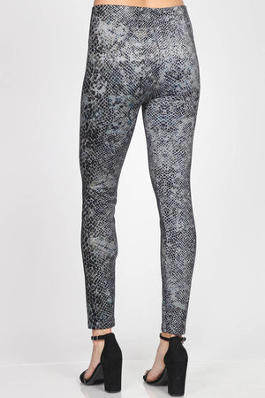 B4342P High Waist Full Length Legging Hypnotic Snakeskin