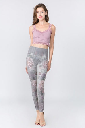 B4437F M.RENA HIGH WAIST FULL LENGTH LEGGING PARISIENNE GARDEN