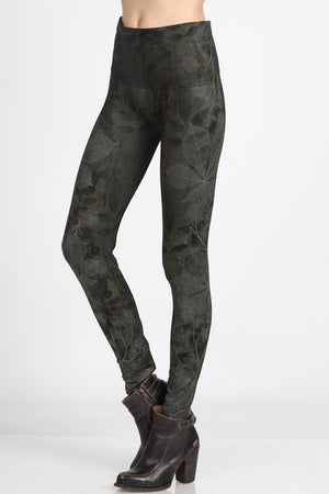 B4222XLLL  Extended High Waist Full Length Legging Aquarelle Flora