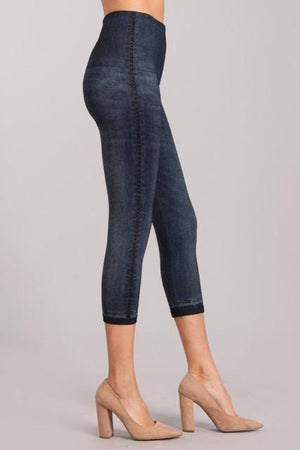 B4438F  Capri/Short Denim Leggings