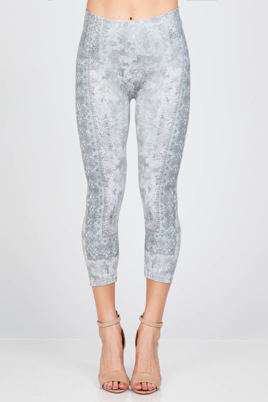 High Waist Crop Legging w/ Paisley Revival B4438R