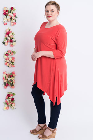 Sharkbite Tunic - Coral.     ONLINE ONLY