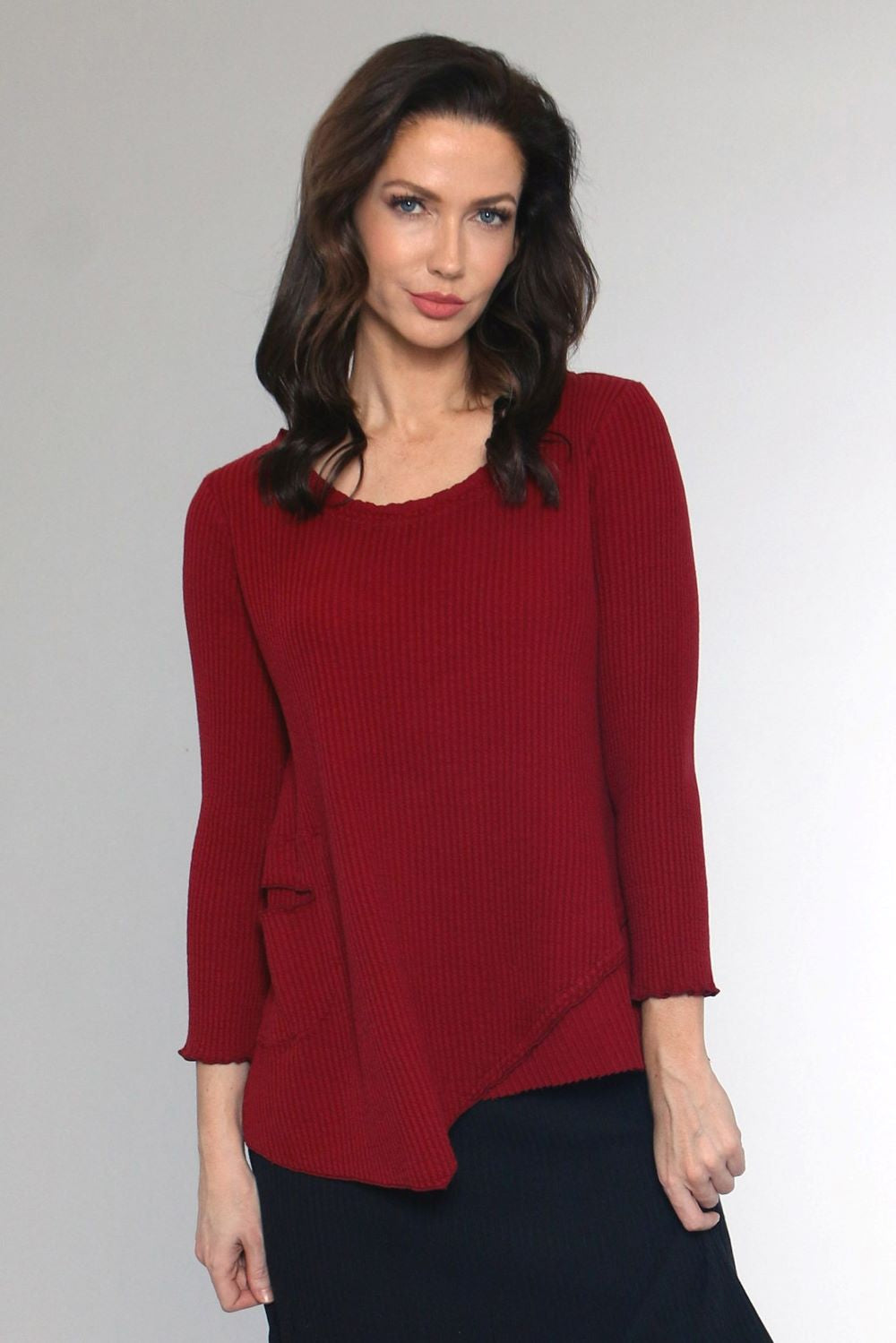C44142 Waffle Top with Side Pocket