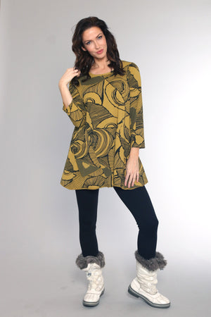 C44176C Tunic Top with Pockets