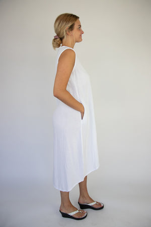 Ellie White Dress with POCKETS