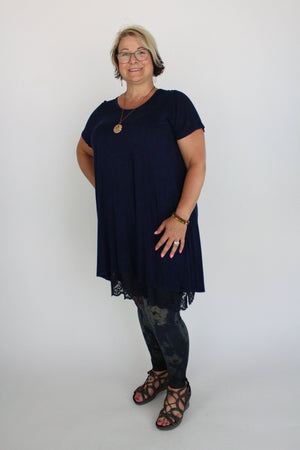 Twist Mineral Wash Short Sleeve Tunic