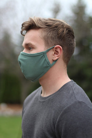 Desert Green Seamed Face Mask - without filter