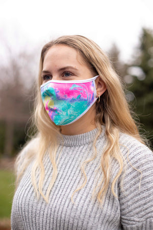 Multi Color Patterned Face Mask - without filter