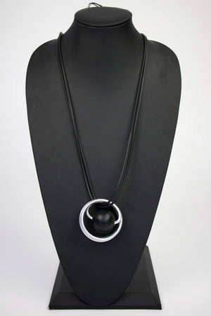 NKL001 Spring Launch Black Convertible Necklace