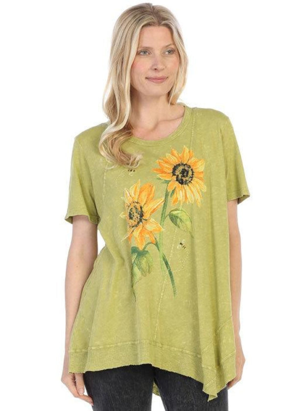M61-1311 Sunny Garden Citrus Mineral Washed Tunic