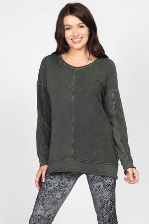 S4800B Mineral Wash French Terry Sweatshirt