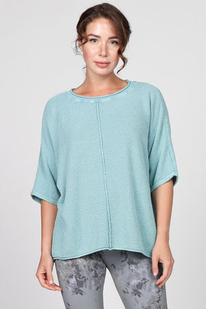 S4872A Mineral Wash Boxy Sweater Top