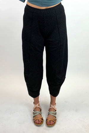 AW20-63BLK Black Pant Cotton Jacquard