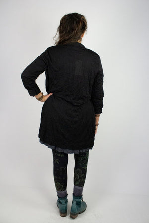 Cleon Mesh Cardigan - Solid Black