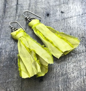 Sari Tassel Earrings