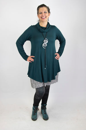 Soft Cowl Neck Tunic