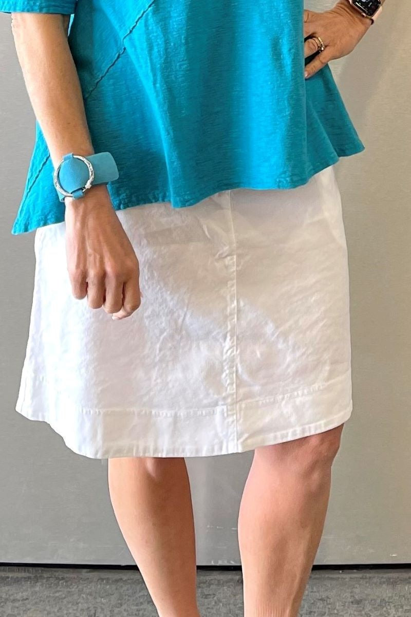 White Skirt with Side Pockets