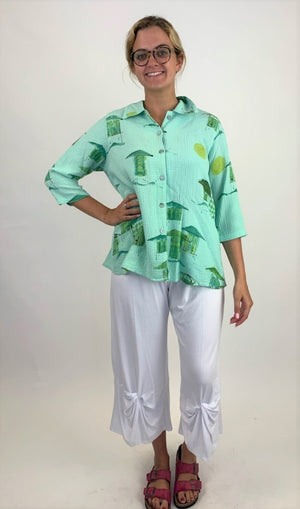 DGT5608 Ocean Spray Top with Back Pleats