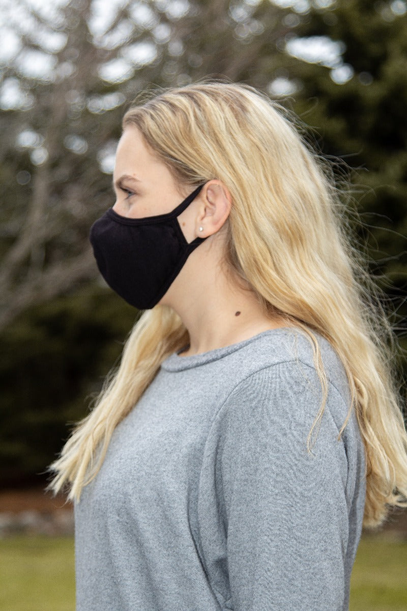 Black Seamed Face Mask - with N-95 Filter