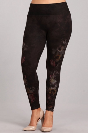 B4222XLAA Plus Size Patterned Legging