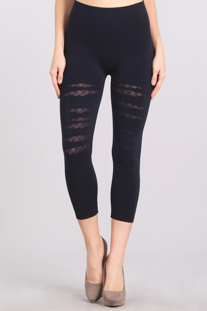 B2370AB Cropped Patterned Leggings