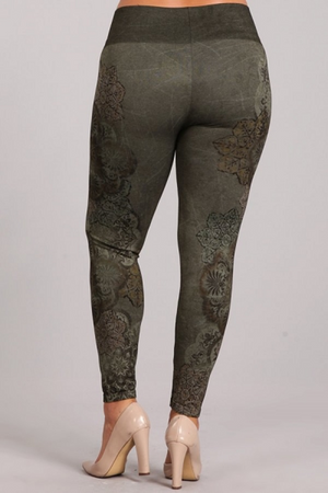 B4222XLL Patterned Leggings
