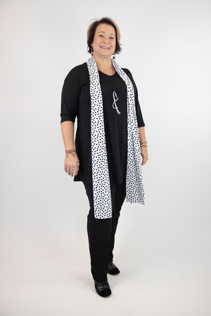 Frankie Soft V-Neck Tunic - Black