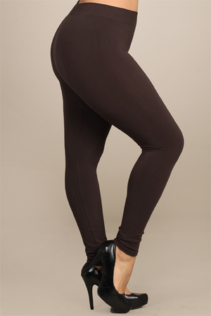 B1466XL Extended No Control Full Length Leggings by M.Rena