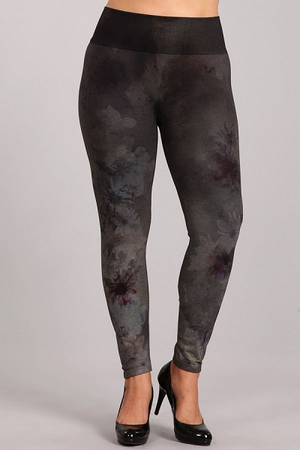 B4222XLE Extended Patterned Leggings