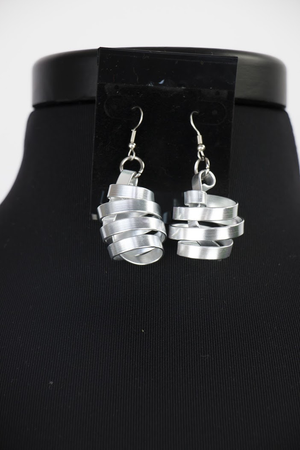 TWISTER EARRINGS SILVER