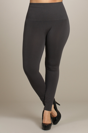 B2361XL Extended Control Tummy Tuck Solid High Waist Full Leggings