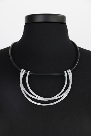 Scallop Silver Convertible Necklace
