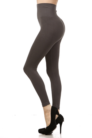 B2361 Control Top Full Length Solid Leggings by M.Rena