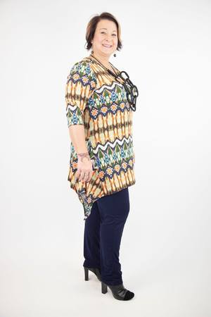 Shellie V-Neck 3/4 Sleeve Tunic