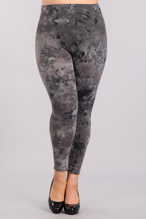 B2370XLA Plus Size Patterned Leggings