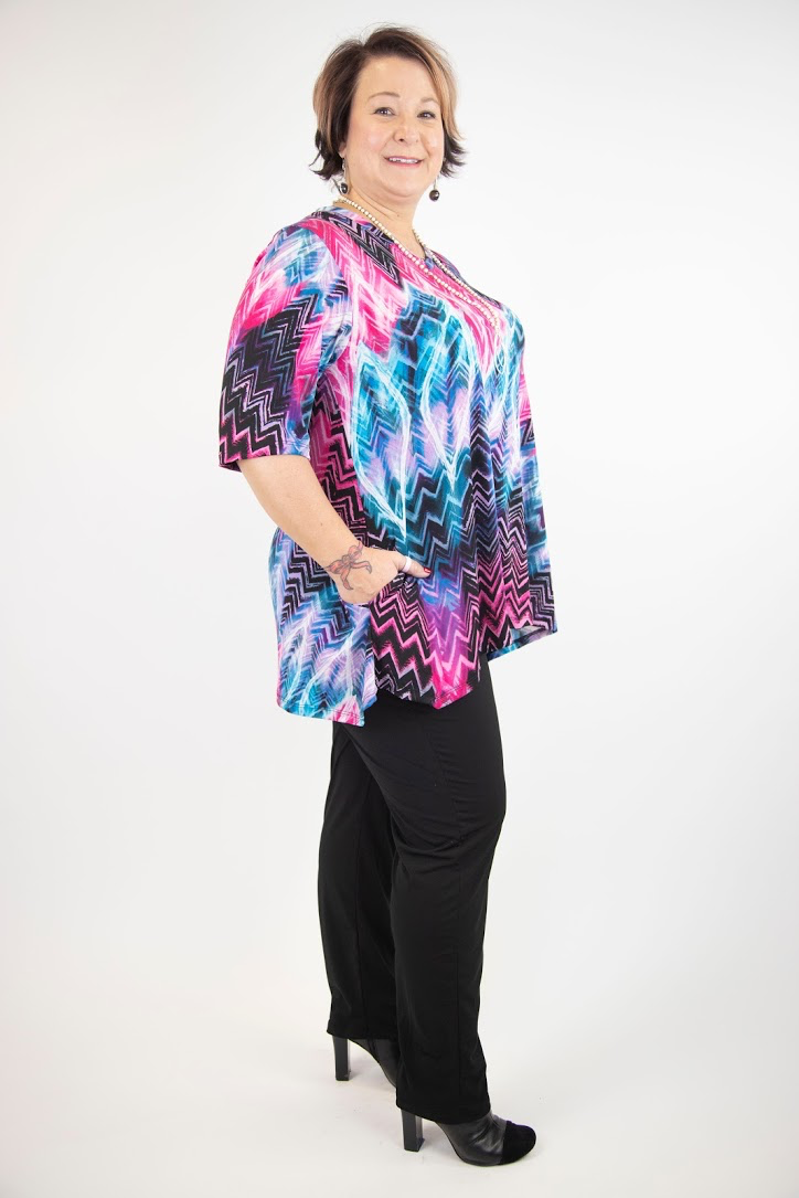 Tannie V-Neck Tunic with Side Pockets