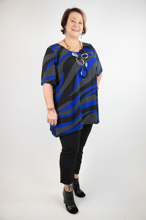 Betty Short Sleeve Tunic with Butterfly Back