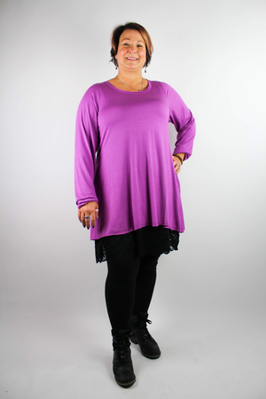 """ The Shirt"" Bright Color A-line Long Sleeve T-Shirt w/Pockets"
