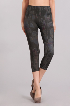 B4223H Capri Patterned Leggings