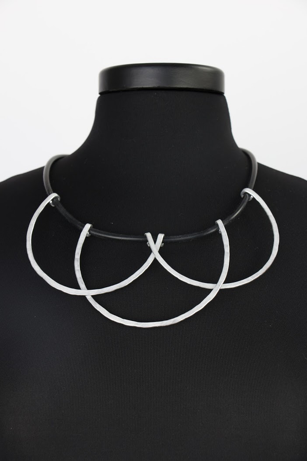 NKL254 Scallop Silver Convertible Necklace