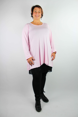 """The Shirt"" Light Color A-line Long Sleeve T-Shirt w/Pockets"