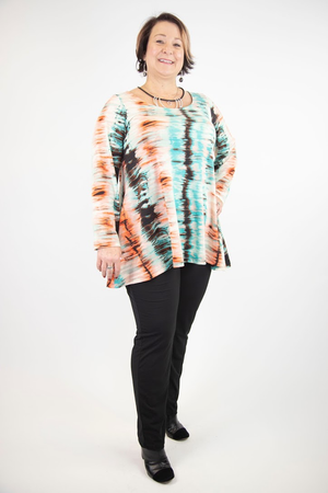 Ava Long Sleeve Tunic with Side Pockets