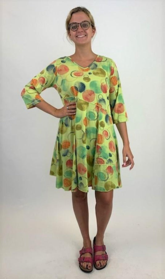 KJD5600 Hopscotch Multi Marrow Seam Dress