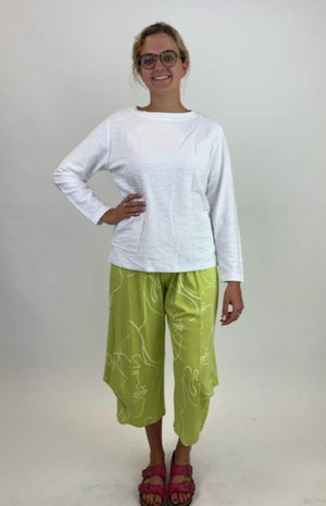 SB5580 Boat Neck Top with Pocket - White