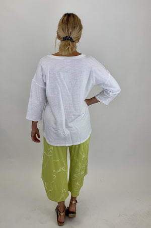 SB5584 Asymmetrical Seamed Top - White