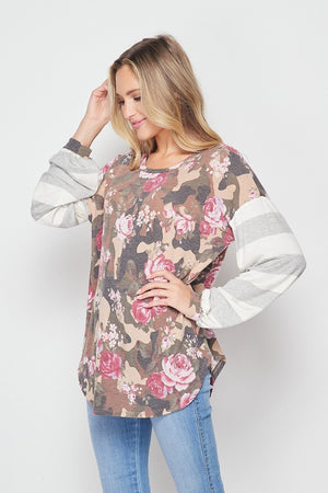 Scoop Neck Top - Taupe Pink